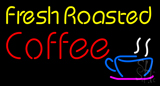 Yellow Fresh Roasted Coffee LED Neon Sign