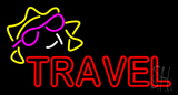 Double Stroke Red Travel LED Neon Sign