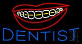 Blue Braces Dentist Neon Sign