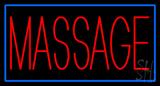 Red Massage Blue Border Neon Sign