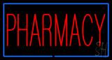Red Pharmacy Green Border Neon Sign