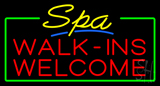 Yellow Spa Walk ins Welcome Neon Sign
