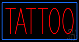 Red Tattoo with Blue Border Neon Sign