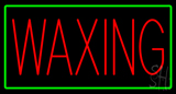 Red Waxing Green Border Neon Sign