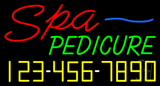 Spa Pedicure with Phone Number Neon Sign
