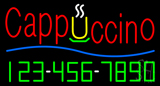 Cappuccino with Phone Number Neon Sign