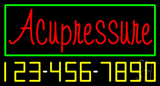 Red Acupressure with Phone Number Neon Sign