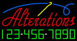 Red Alteration with Phone Number Neon Sign