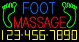 Foot Massage Logo and Number Neon Sign