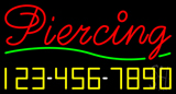 Cursive Piercing with Phone Number Neon Sign