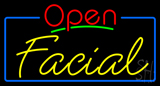 Red Open Yellow Facial Neon Sign