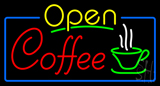 Yellow Open Coffee Neon Sign