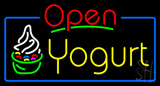 Red Open Yogurt Neon Sign