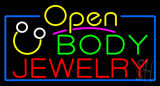 Body Jewelry with Logo Open Neon Sign