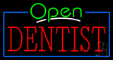 Green Open Red Dentist Neon Sign