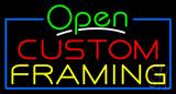 Open Custom Framing Neon Sign