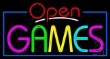 Open Games Neon Sign