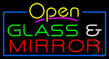 Glass and Mirror Neon Sign