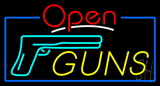 Open Guns Neon Sign