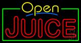 Yellow Open Double Stroke Juice Neon Sign