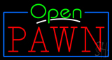 Green Open Red Pawn Neon Sign