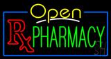 Yellow Open Pharmacy Neon Sign