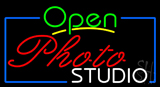 Open Photo Studio Neon Sign