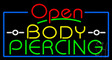 Red Open Body Piercing Neon Sign
