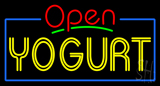 Red Open Double Stroke Yogurt Neon Sign