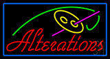 Red Alteration Logo Blue Border Neon Sign