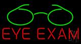 Red Eye Exam Green Glass Logo Neon Sign