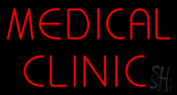 Red Medical Clinic LED Neon Sign