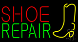 Shoe Repair with Logo Neon Sign
