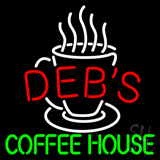 Debs Coffee House LED Neon Sign