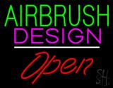 Green Airbrush Design Red Open White Line LED Neon Sign