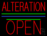 Alteration Block Open Green Line LED Neon Sign