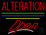 Alteration Open Yellow Line LED Neon Sign