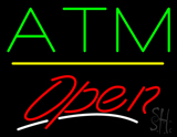 ATM Open Yellow Line LED Neon Sign