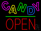 Candy Block Open Green Line LED Neon Sign