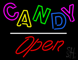 Candy Open White Line LED Neon Sign