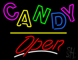 Candy Open Yellow Line LED Neon Sign