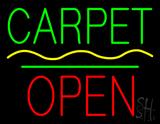 Carpet Block Open Green Line LED Neon Sign