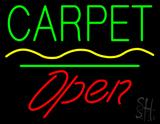 Carpet Script1 Open White Line LED Neon Sign