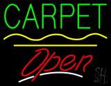 Carpet Script2 Open Yellow Line LED Neon Sign