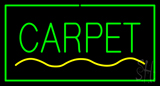 Carpet Rectangle Green LED Neon Sign