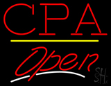 CPA Open Yellow Line LED Neon Sign