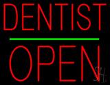 Dentist Block Open Green Line LED Neon Sign