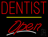 Dentist Open Yellow Line LED Neon Sign