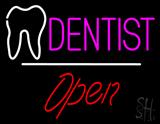 Dentist Logo Open White Line LED Neon Sign