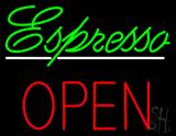 Espresso Block Open LED Neon Sign